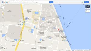 Location of Belur math guest house
